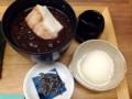 [向島][曳舟][押上][浅草][菓子][アイス][甘味処]思わずあんみつ用のアイスをおしるこに入れ温冷楽しんで御礼