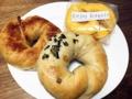 [上北沢][パン][ベーグル]焼きりんごベーグル・野沢菜ベーグル・かぼちゃラスク