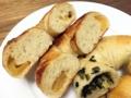 [上北沢][パン][ベーグル]焼きりんごベーグル&野沢菜ベーグルの断面
