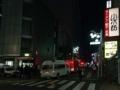 [新宿][ラーメン][ラーメン二郎]ご丁寧に黄色に黒字の看板で道案内