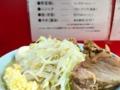 [新宿][ラーメン][ラーメン二郎]「ラーメン二郎 新宿歌舞伎町店」のブタW味玉子野菜ニンニク