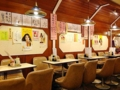 [谷中][日暮里][ラーメン][餃子][定食・食堂][菓子][甘味処]4名掛けテーブル12卓の計48席とかなり広め@谷中「花家」