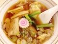 [谷中][日暮里][ラーメン][餃子][定食・食堂][菓子][甘味処]昔ながらの鶏ガラ醤油アッサリスープのワンタンメン@谷中「花家」