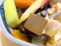 [谷中][日暮里][ラーメン][餃子][定食・食堂][菓子][甘味処]天然の自家製寒天入りのクリームあんみつ@谷中「花家」