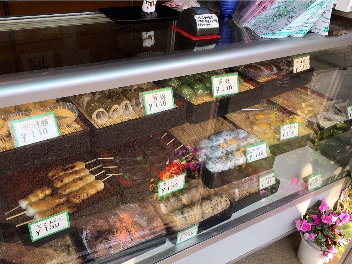 こだわりの各種和菓子類@谷中「荻野」