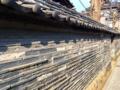 [谷中][日暮里][千駄木][菓子]谷中の象徴、江戸時代製の「観音寺の築地塀(ついじべい)」