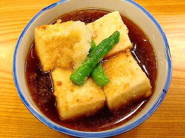 千駄木の老舗居酒屋「にしきや」の揚げ出し豆腐