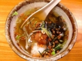 [千駄木][谷中][日暮里][和食][天ぷら][焼き鳥][焼きそば][鍋][居酒屋]お茶漬けは、梅・鮭・昆布・海苔の4種類から選択