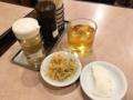 [御徒町][仲御徒町][上野御徒町][秋葉原][上野][ラーメン][チャーハン][中華][定食・食堂]小鉢にお新香、それと冷たいお茶@御徒町「中華 大興」