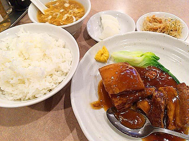 ランチの豚の角煮定食@御徒町「中華 大興」