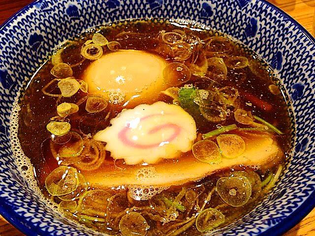 魚介と芳醇な鶏の香り漂う和風醤油つけダレ@「神田 勝本」