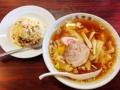 [神楽坂][早稲田][牛込柳町][ラーメン][チャーハン][中華][定食・食堂]半チャーハンセットにすると頼もしさに拍車がかかるビジュアル