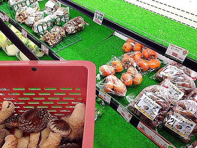 採ったしいたけを売店にて精算@千葉「佐倉きのこ園」