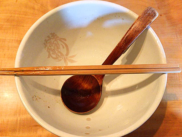 完食@方南町「中華蕎麦 蘭鋳」