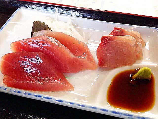 そば定食なのに新鮮な刺身が6切れ@石垣島「のりば食堂」