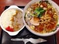[新宿][新宿御苑前][ラーメン][カレー]新宿の老舗日本蕎麦屋「更科」のCセット(中華ミニカレーライス)