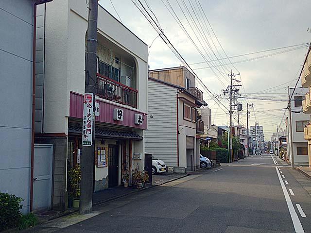 車社会ということもありお店周辺は大通り@名古屋「好来道場」