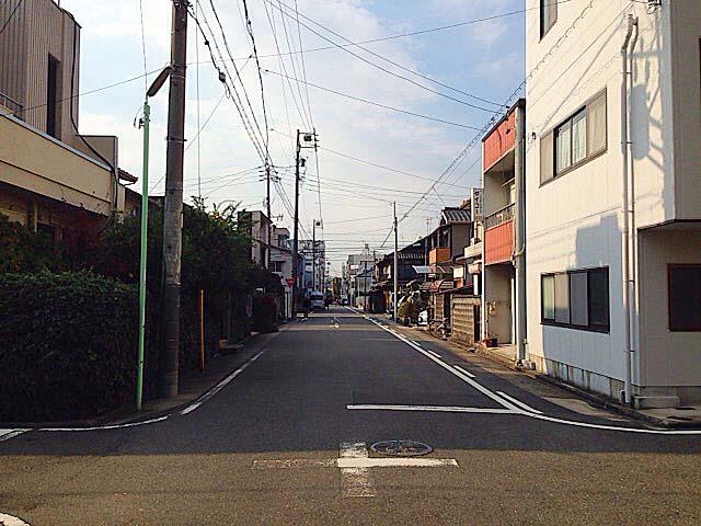 どこか落ち着いた町並みのお店周辺@名古屋「好来道場」