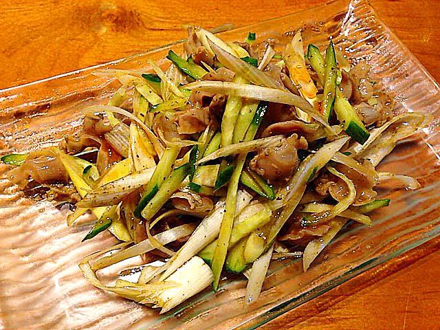 砂肝の冷菜@名古屋の老舗中華料理屋「萬珍軒」