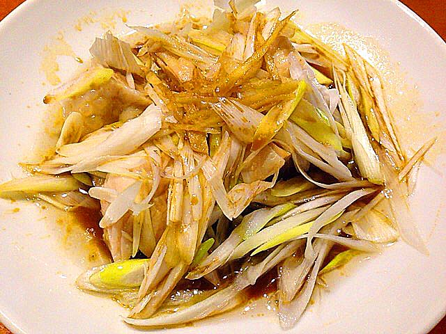 蒸し鶏のネギソース@名古屋の老舗中華料理屋「萬珍軒」