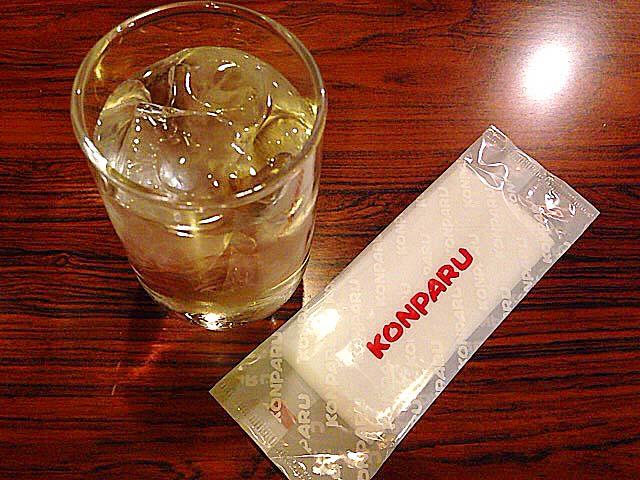 ローマ字でハッキリ「KONPARU」な紙おしぼり@名古屋「コンパル 大須本店」