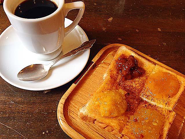 モーニングのブレンドコーヒー&コンフィチュールバタートースト@名古屋「KAKO 花車本店」