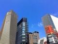 [銀座][東銀座][ラーメン][チャーハン][焼きそば][中華]「中華三原」のある路地道から広い通りに出る時に見上げる空