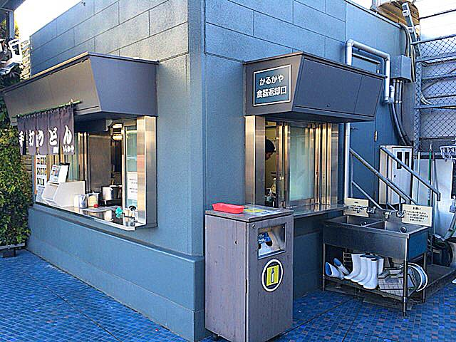 西武池袋本店屋上の讃岐うどん専門店「かるかや」