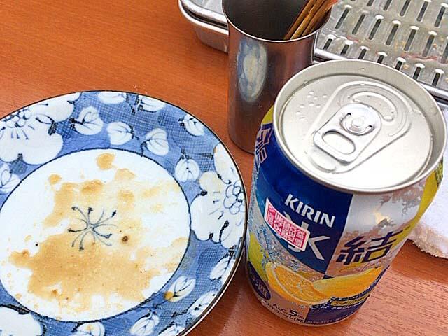 缶チューハイ@大阪府平野の老舗屋台「串かつ・どて焼 武田」