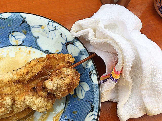 かしわ(鶏肉)@大阪府平野の老舗屋台「串かつ・どて焼 武田」