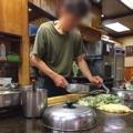 [大阪][美章園][お好み焼き][焼きそば][居酒屋][定食・食堂][ドラマ][孤独のグルメ]調理工程を間近で拝めるカウンター席@大阪府美章園「甘辛や」