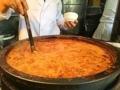 [築地][築地市場][和食][定食・食堂][丼もの]大鍋でグツグツ状態の濃厚ホルモン煮込み@築地「きつねや」