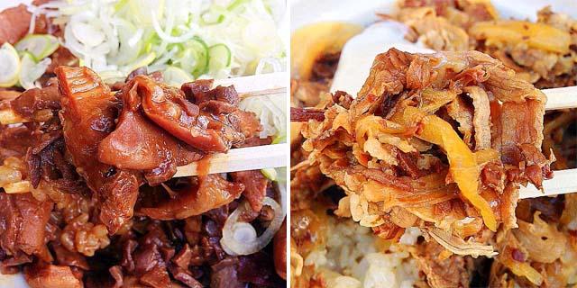 築地場外市場の超人気店「きつねや」の国産牛ホルモン丼&つゆだく牛丼