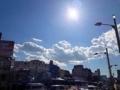 [築地][築地市場][和食][定食・食堂][丼もの]半熟玉子のような太陽、好天に恵まれた築地場外市場