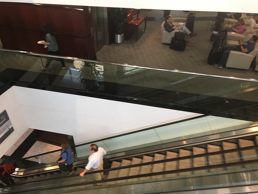 ヒューストン空港ユナイテッド航空ラウンジUnited Club @ ターミナルE 3F席