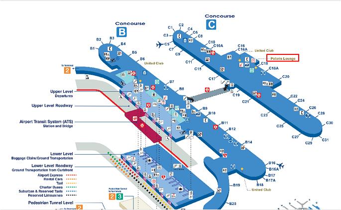 シカゴオヘア空港内マップ