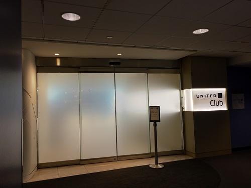 シカゴオヘア空港ターミナル2 United Club 入り口