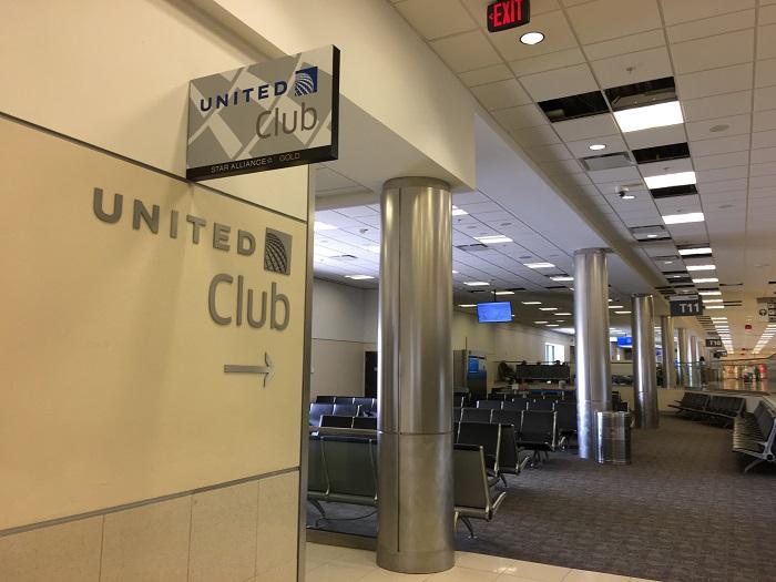 """ユナイテッド航空ラウンジ""""United Club""""@アトランタ空港ターミナルT アクセス"""
