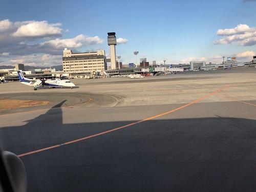 伊丹-羽田 修行 機窓からみたボンバルディア