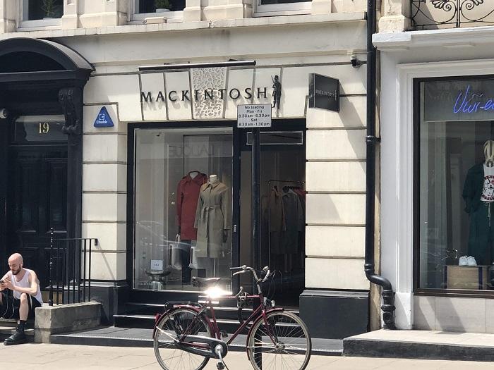ロンドン マッキントッシュ店舗