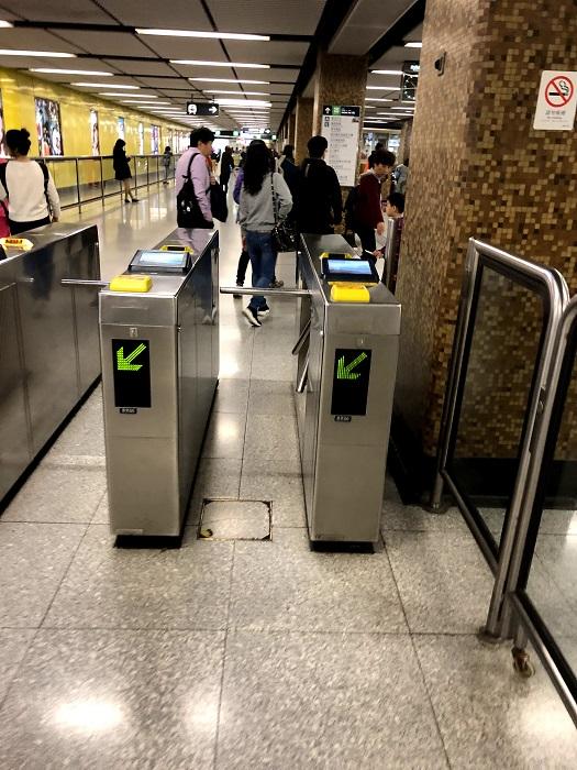 香港地下鉄MTR改札機