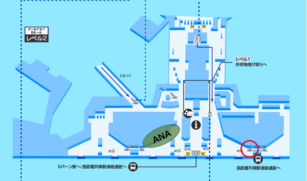 フランクフルト空港ターミナル1 レベル2図