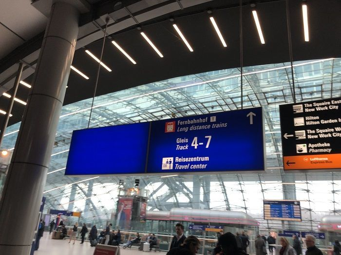 フランクフルト空港から長距離列車ホームへの動線④