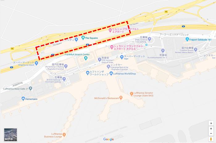 フランクフルト空港から長距離列車ホームへの動線⑤