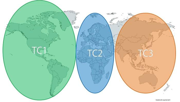 スタアラ世界一周 TC1/TC2/TC3地域分け