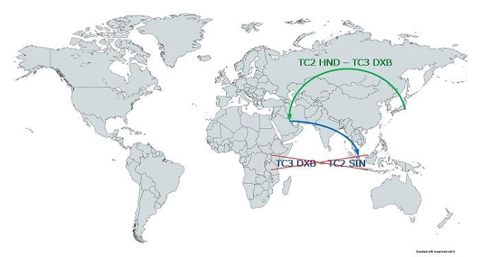 スタアラ世界一周 TC1/TC2/TC3地域分け TC間移動