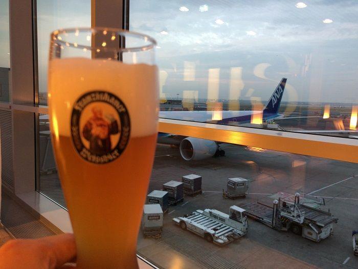 ヴァイスビール with ANA機体