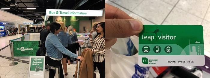 ダブリン空港 Leap Visitor Card