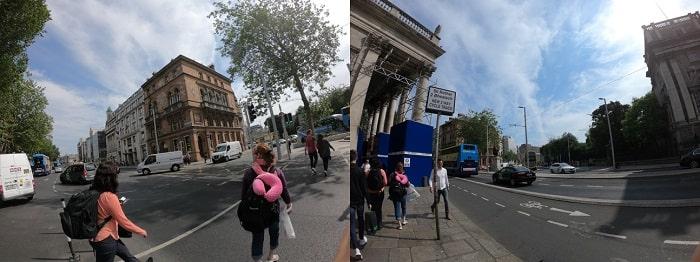 ダブリン中心地の街並み