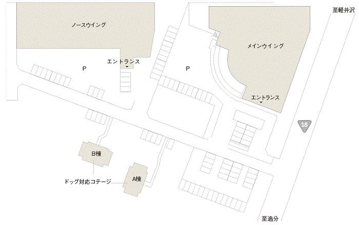 軽井沢マリオットホテルの構成